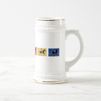 English Horse and Rider Beer Stein