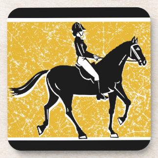 English Horse and Rider Beverage Coaster