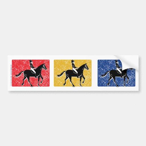 English Horse and Rider Bumper Sticker