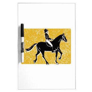 English Horse and Rider Dry-Erase Whiteboard