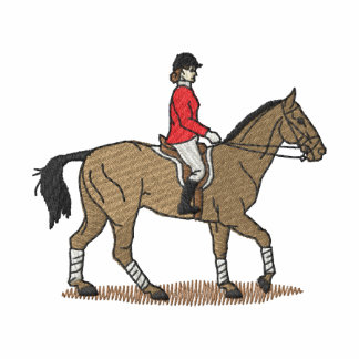 English Horse and Rider Embroidered Shirt