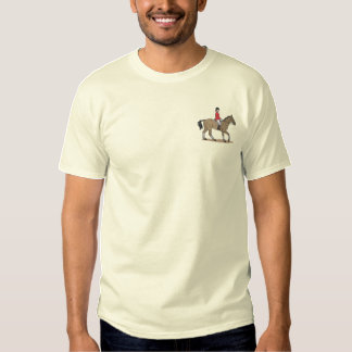 English Horse and Rider Embroidered T-Shirt