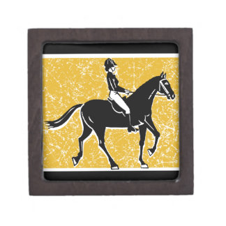 English Horse and Rider Keepsake Box