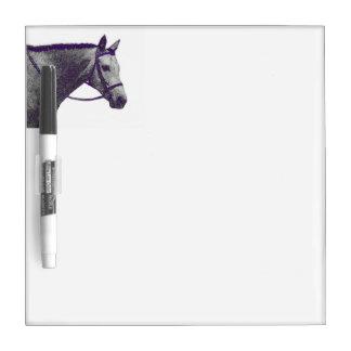 English horse dry erase board - small