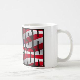English Invasion USA flag Mug