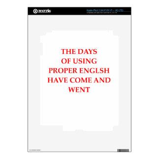 ENGLISH iPad 3 DECAL