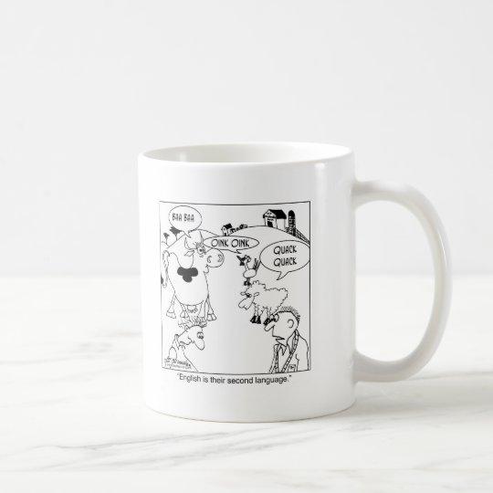 English is Farm Animals 2nd Language Coffee Mug