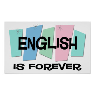 English Is Forever Poster