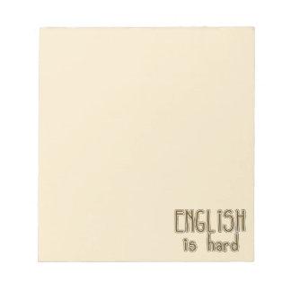 English is hard, Funny Notepad