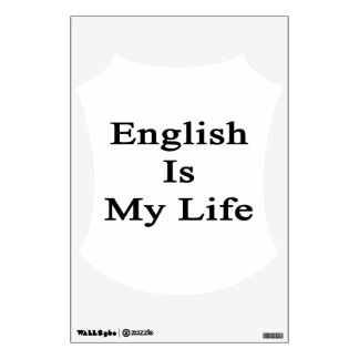 English Is My Life Wall Decor