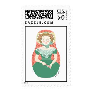 English Ivy Matryoshka Stamps