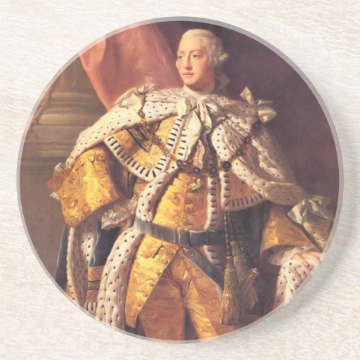 English King George III by Studio of Allan Ramsay Beverage Coasters