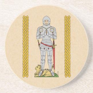 English Knight, Circa 1430, Sandstone Coaster