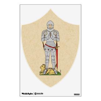 English Knight, Circa 1430, Wall Decal