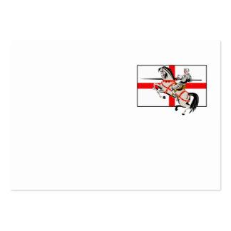 English Knight Lance Horse England Flag Side Retro Business Cards