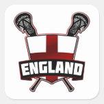 English Lacrosse Logo Square Sticker