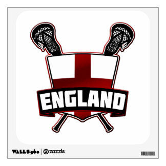 English Lacrosse Logo Wall Decals