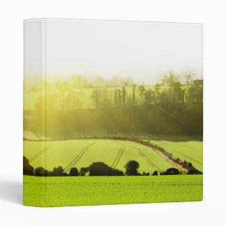 English landscape panamoric view across fields wi 3 ring binder