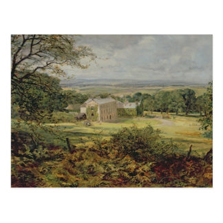 English landscape with a house, 19th century postcard