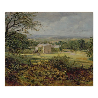 English landscape with a house, 19th century poster