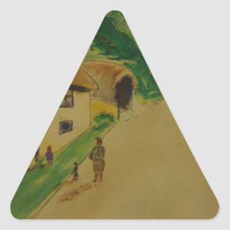 English Laneway Triangle Sticker
