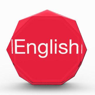 English Language Acrylic Award