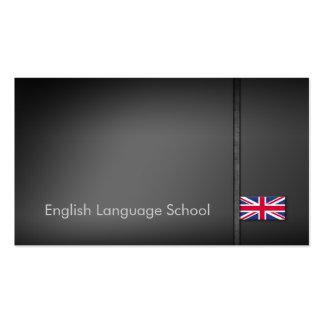 English language school business card