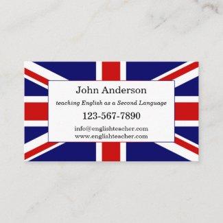 English Language Teacher Business Card