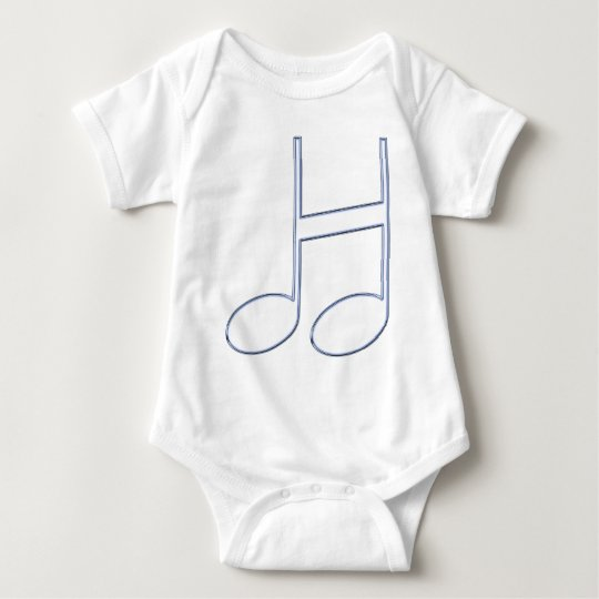 """English Letter """"H""""  Created From Musical Notes Baby Bodysuit"""