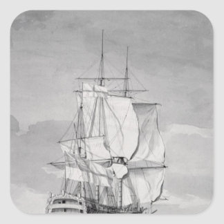 English Line-of-Battle Ship, 18th century Square Sticker