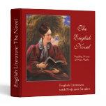 English Literary Lady Vintage Literature Studies Binder
