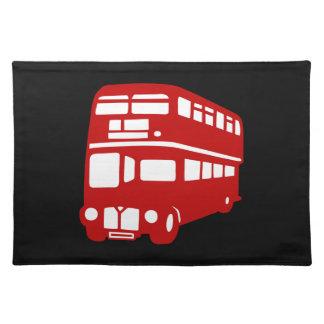 english london bus cloth placemat