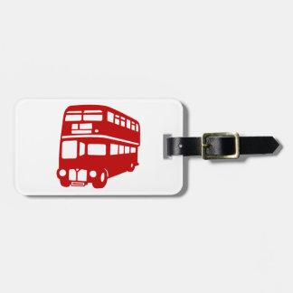 english london bus luggage tag