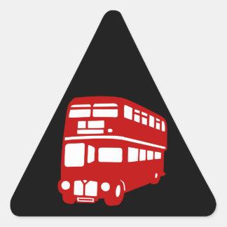 english london bus triangle sticker