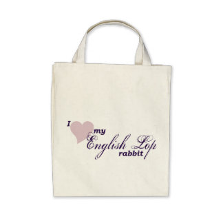 English Lop rabbit Bags