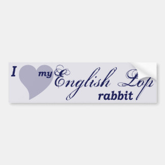 English Lop rabbit Bumper Sticker