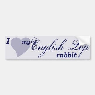 English Lop rabbit Car Bumper Sticker