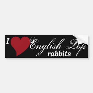 English Lop rabbits Car Bumper Sticker
