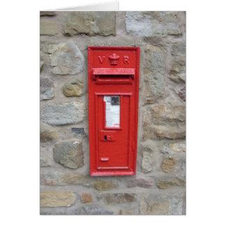 English mailbox card