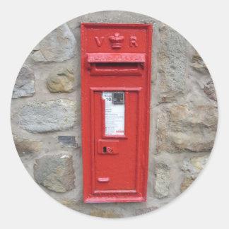 English mailbox classic round sticker