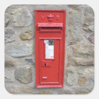 English mailbox square sticker
