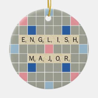 English Major Ceramic Ornament