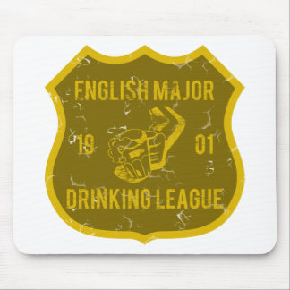 English Major Drinking League Mouse Pad