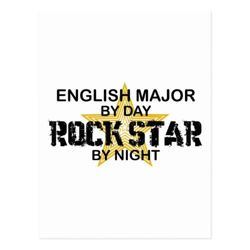 English Major Rock Star Postcards
