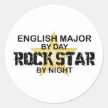 English Major Rock Star Sticker