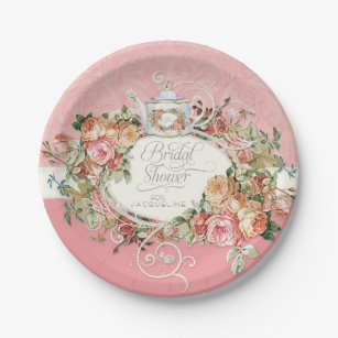 English Manor Vintage Rose Tea Party Bridal Shower Paper Plate  sc 1 st  Zazzle & Modern Design Plates | Zazzle