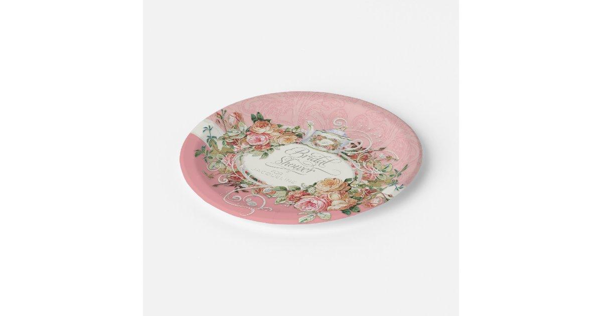 vintage bridal shower paper plates - 28 images - vintage bridal ...