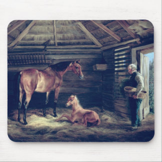 English Mare With Her Foals, 1833 Mouse Pad