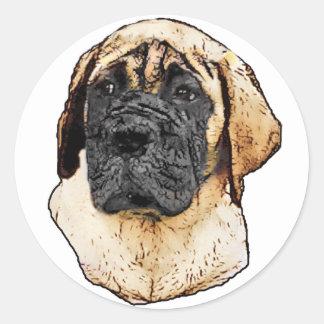 English Mastiff Art Gifts Classic Round Sticker