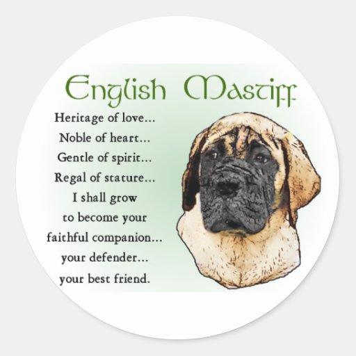 English Mastiff Art Gifts Sticker